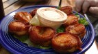 Bacon Wrapped Scallops at Grills Seafood and Tiki Bar, Port Canaveral, Florida