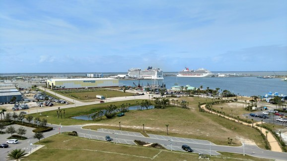 Looking Northwest from the Exploration Tower at the Port Canaveral Cruise terminals