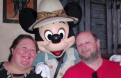 Mickey Mouse, Barb and Jason at the Animal Kingdom Tuckers House Character Dinner, February 8, 2018