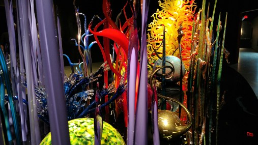 Mille Fiori (2010) is about 10 feet high by 10 feet wide by 30 feet long