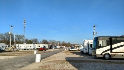 From site 140, Agricenter RV Park West to East