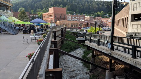 From the Deadwood Mountain Grand Casino looking over the creek to downtown