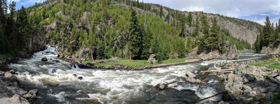 The falls of Firehole valley at Yellowstone