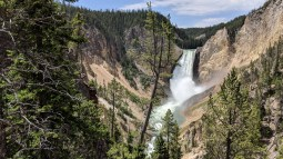 The lower Yellowstone River falls from the lower outlook.