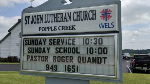 St John Lutheran Church, Popple Creek, County Rd W, Colfax, WI