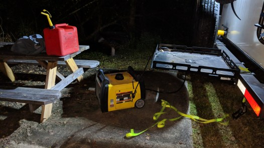 Had to break out the generator at Bayou Segnette State Park, Westwego, LA, we were without power with 95 degree days for 5 hours