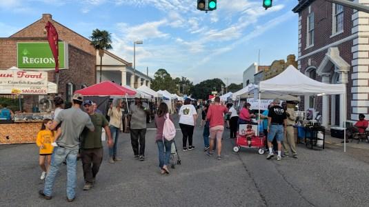 Local festival in New Roads, LA