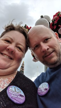 Sporting our 20th Happily Ever After anniversary at the Magic Kingdom