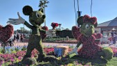 Mickey and Minnie topiaries at Flower and Garden Festival of Epcot
