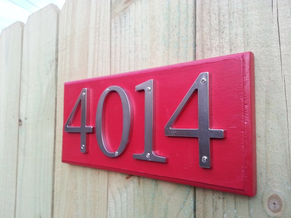 rear fence address plate