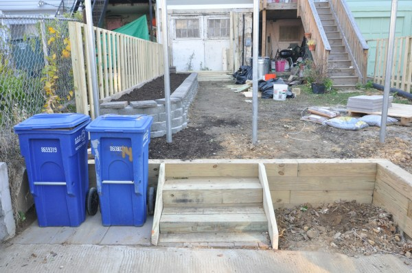 backyard back steps november 2012