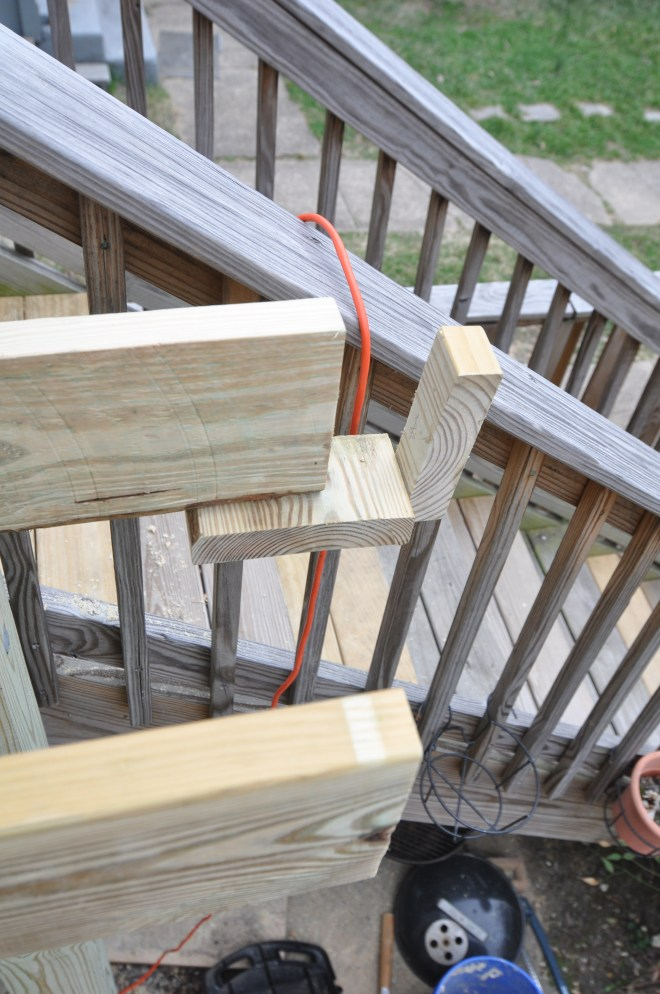 rim joist holder back deck