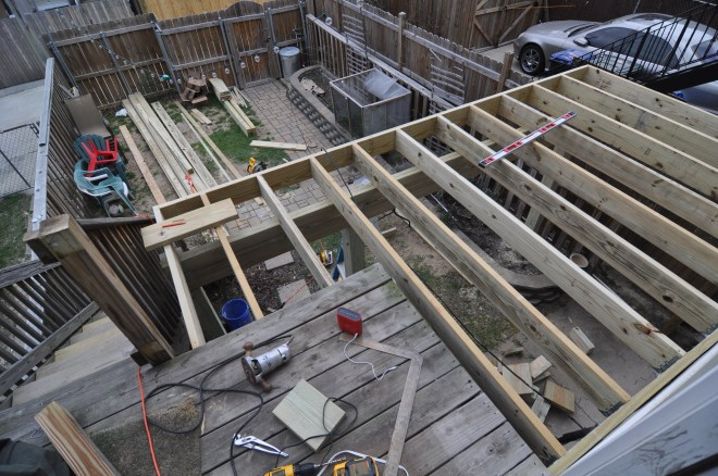 back deck all joists in landing