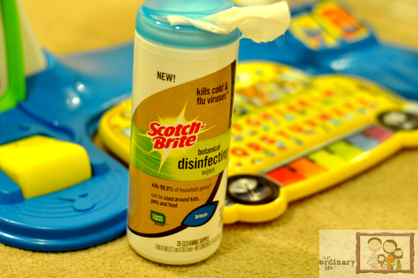 Keep Toys Clean Scotch-Brite Botanical Disinfecting Wipes Challenge – $100 Toys R Us Gift Card Giveaway