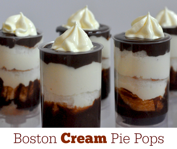 Simple Spring Desserts – Boston Cream Pie Pops Recipe
