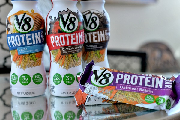 v8 protein products
