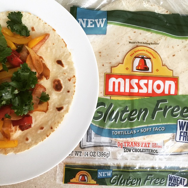 Mission® Gluten Free Tortillas & A Simple Vegetable Fajita Recipe