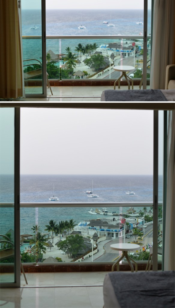 Park Royal Cozumel Mexico view from inside room doors open