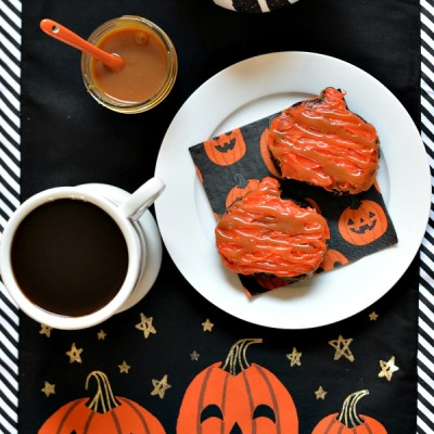 Getting Ready For Fall – Pumpkin Caramel Drizzle Brownies