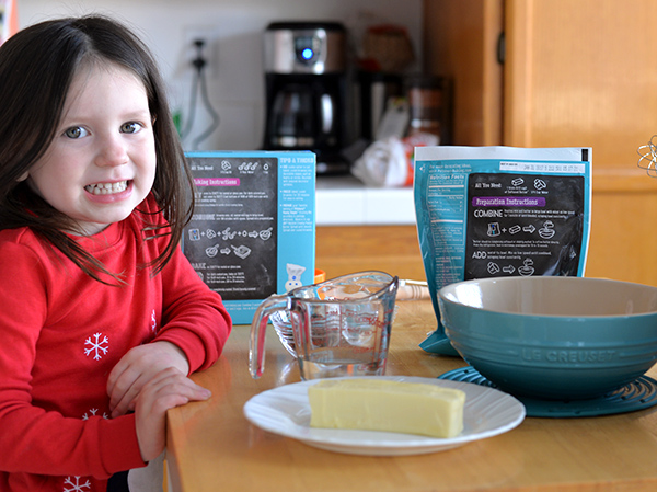 Toddler Making Purely Simple Brownies