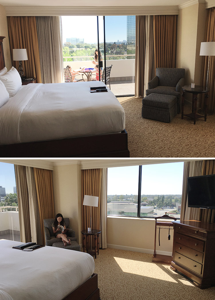 Fairmont Hotel Newport Beach California king bed room