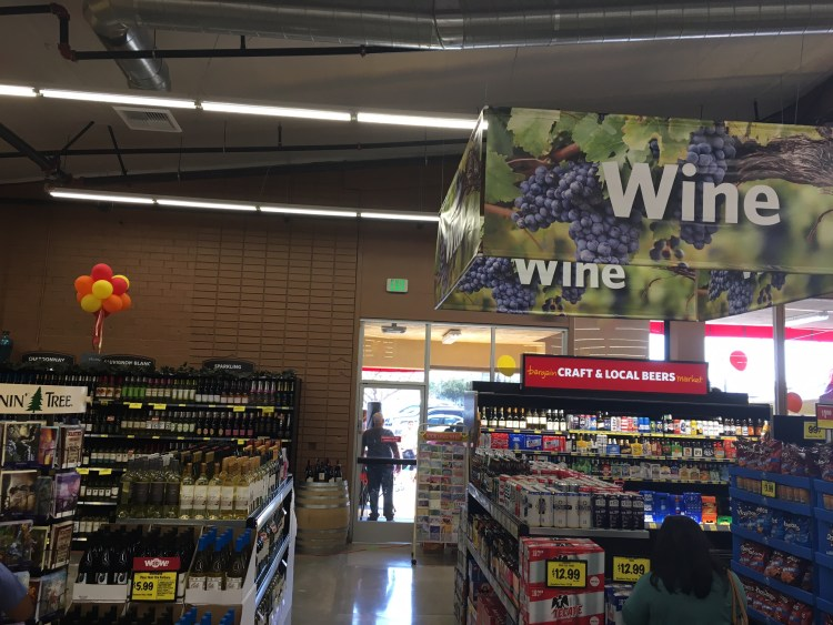 wine at grocery outlet