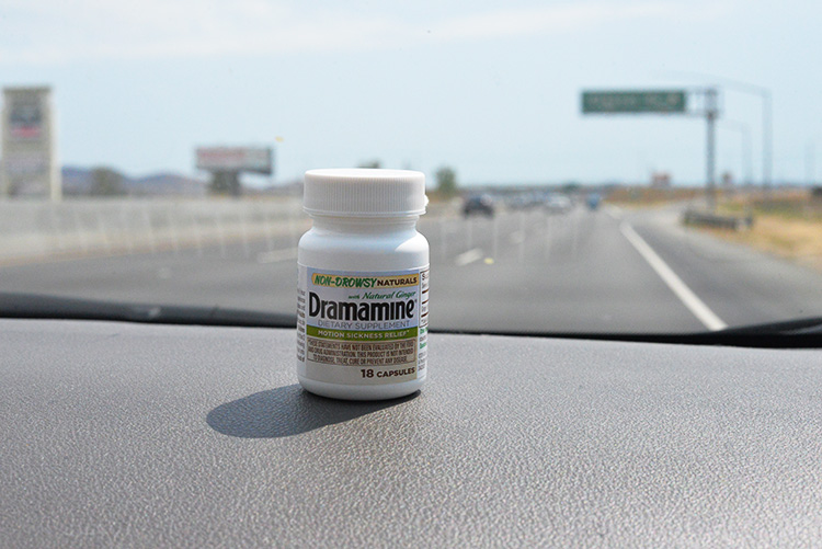 Dramamine Motion Sickness Relief for road trips