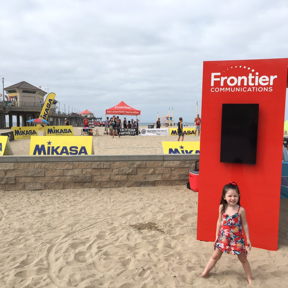 Frontier Communication Takes On Huntington Beach With FootVolley