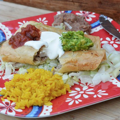 Quick & Easy Dinner Idea – Pork Rolled Tacos