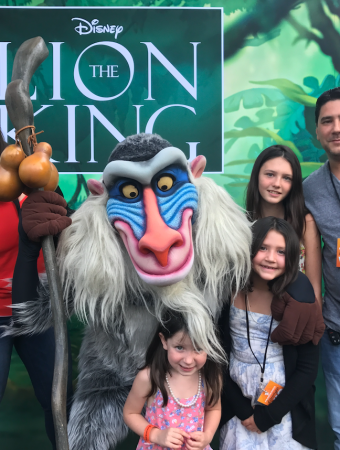 the lion king event with disney
