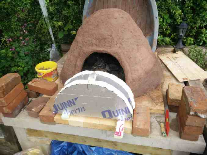 Making pizza oven arch
