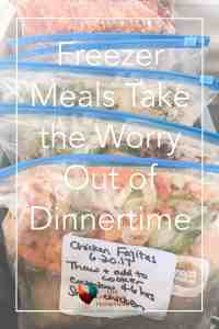 Do you have a hard time making a healthy meal at dinnertime? Click here to see how using freezer meals can save you time and money at your home. Freezer Meals | Quick Meals | Healthy Meals