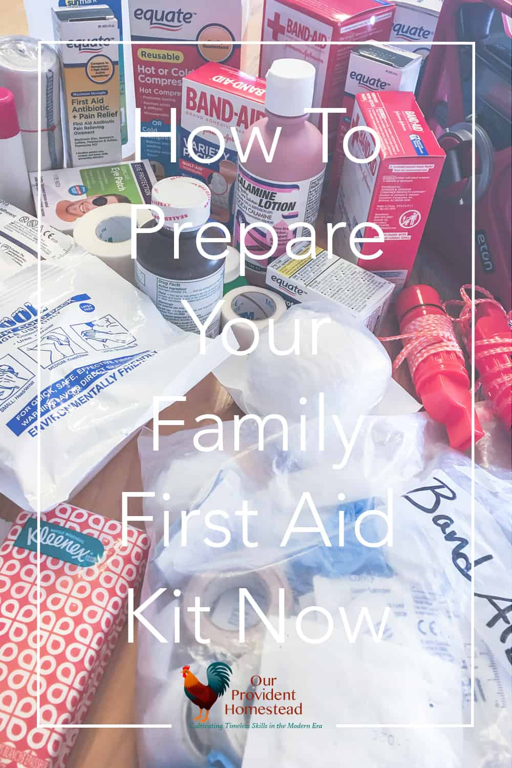 Do you have a family first aid kit? We go over why you should have one and what kinds of things you should keep in it for everyday and emergencies. #emergencypreparedness #firstaidkit #survivaltips