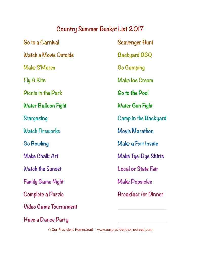 Do you have your summer planned? This family summer bucket list has plenty of activities to keep your kids busy even if you live in the country. Summer Bucket List | Country Kids Activities | Summer Family Activities