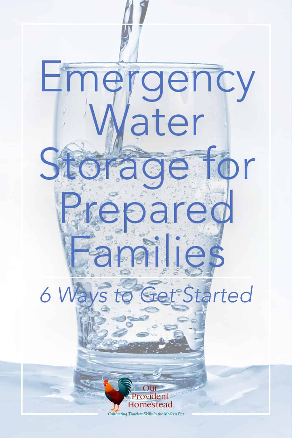 Do you have enough water stored for your family for an emergency? We discuss 6 ways to store water so you will be prepared in an emergency. How to Store Water | Emergency Water Storage | Preparing for Emergencies