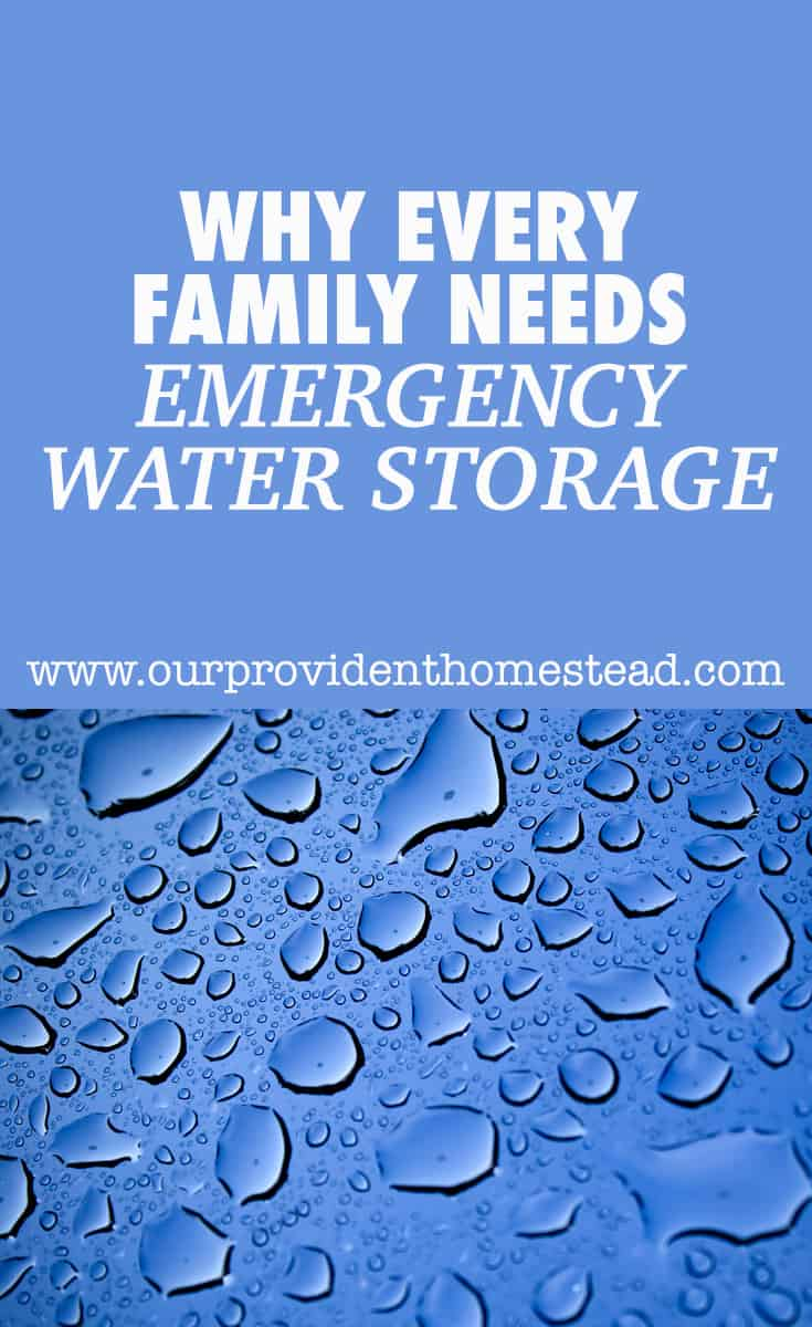 Do you have enough water stored for your family for an emergency? We discuss 6 ways to store water so you will be prepared in an emergency. #preparedness #SHTF #survival #survivaltips #waterstorage