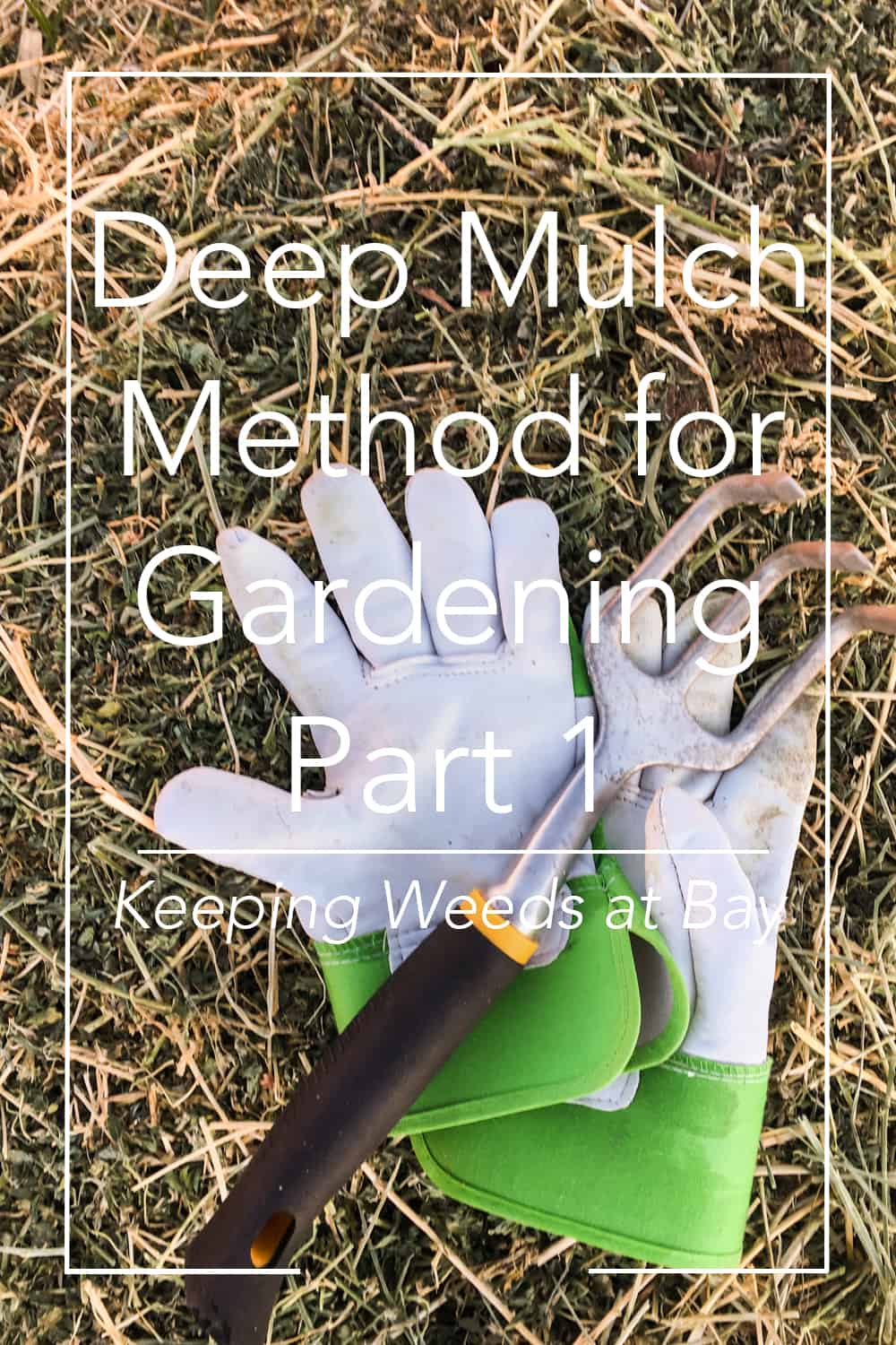Have you tried the deep mulch method in your garden? Click here to see how using this method keeps the weeds at bay in my garden. #gardening #gardentips #homesteading #deepmulchmethod
