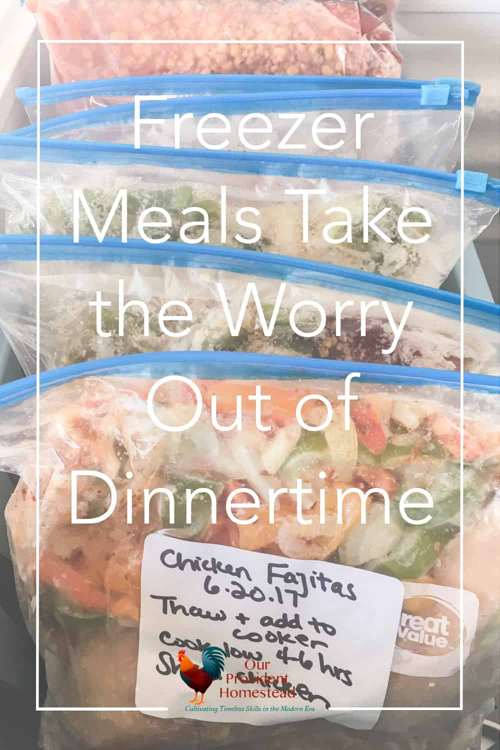 Do you have a hard time making a healthy meal at dinnertime? Click here to see how using freezer meals can save you time and money at your home. #freezermeals #healthymeals #savetime #homesteading