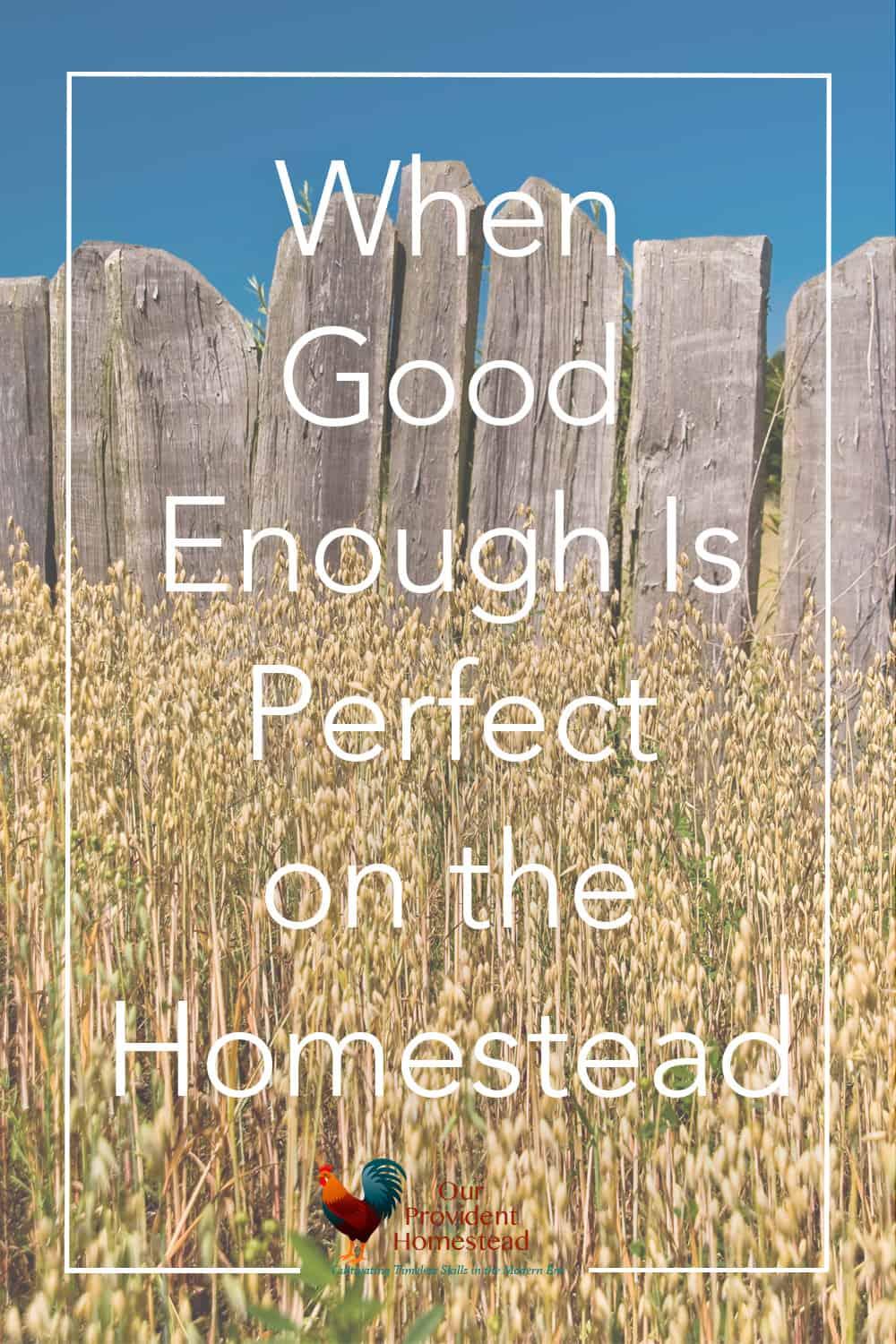 Do you fall prey to the comparison game? Click here to find out when good enough is perfect on the homestead and get things done. Comparison Game   Good Enough   Better than Perfect
