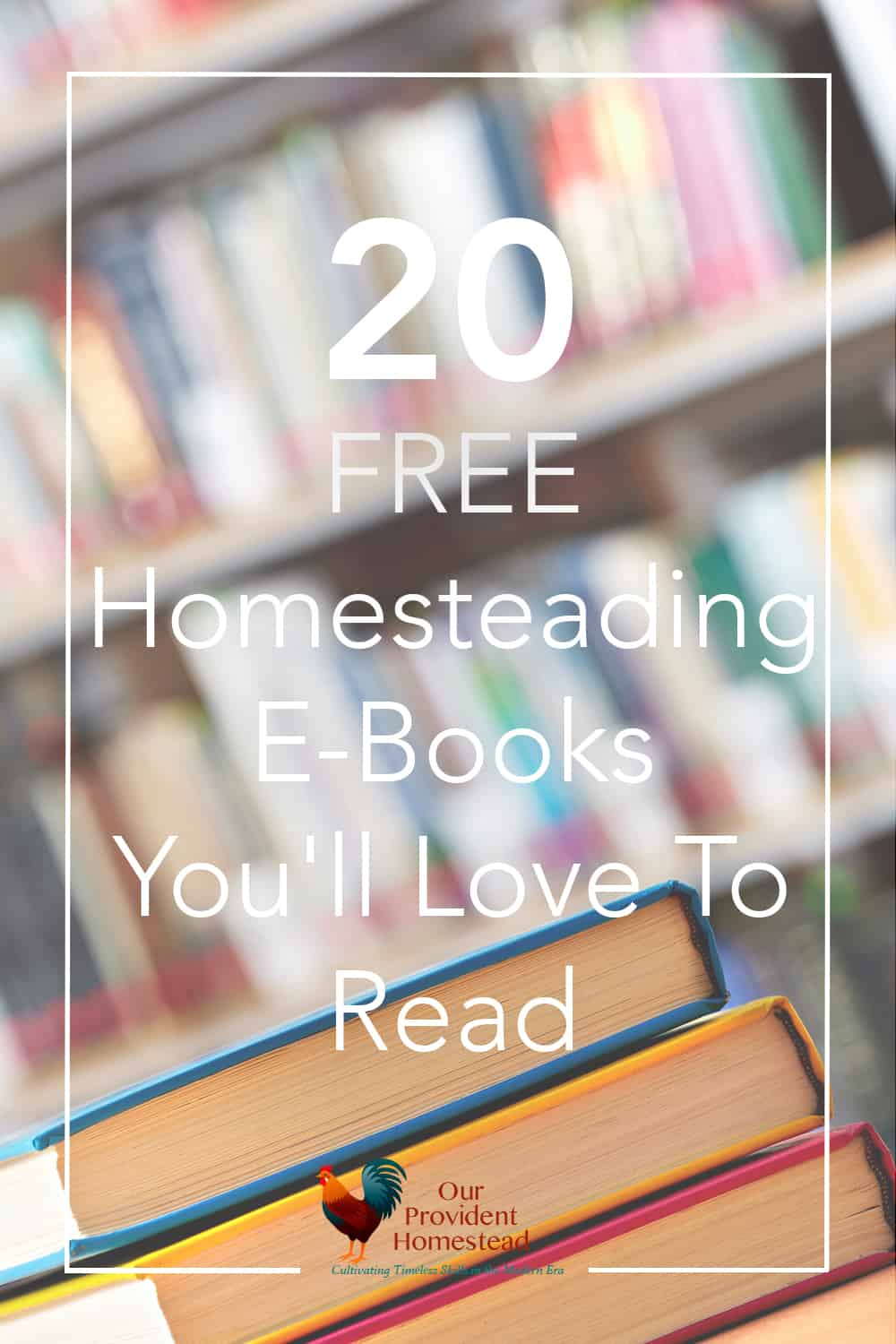Free is good, right? Click here to 20 free homesteading e-books you'll love and get started on your homesteading dream today. Free Homesteading E-Books | Homesteading Resources | Free E-Books List