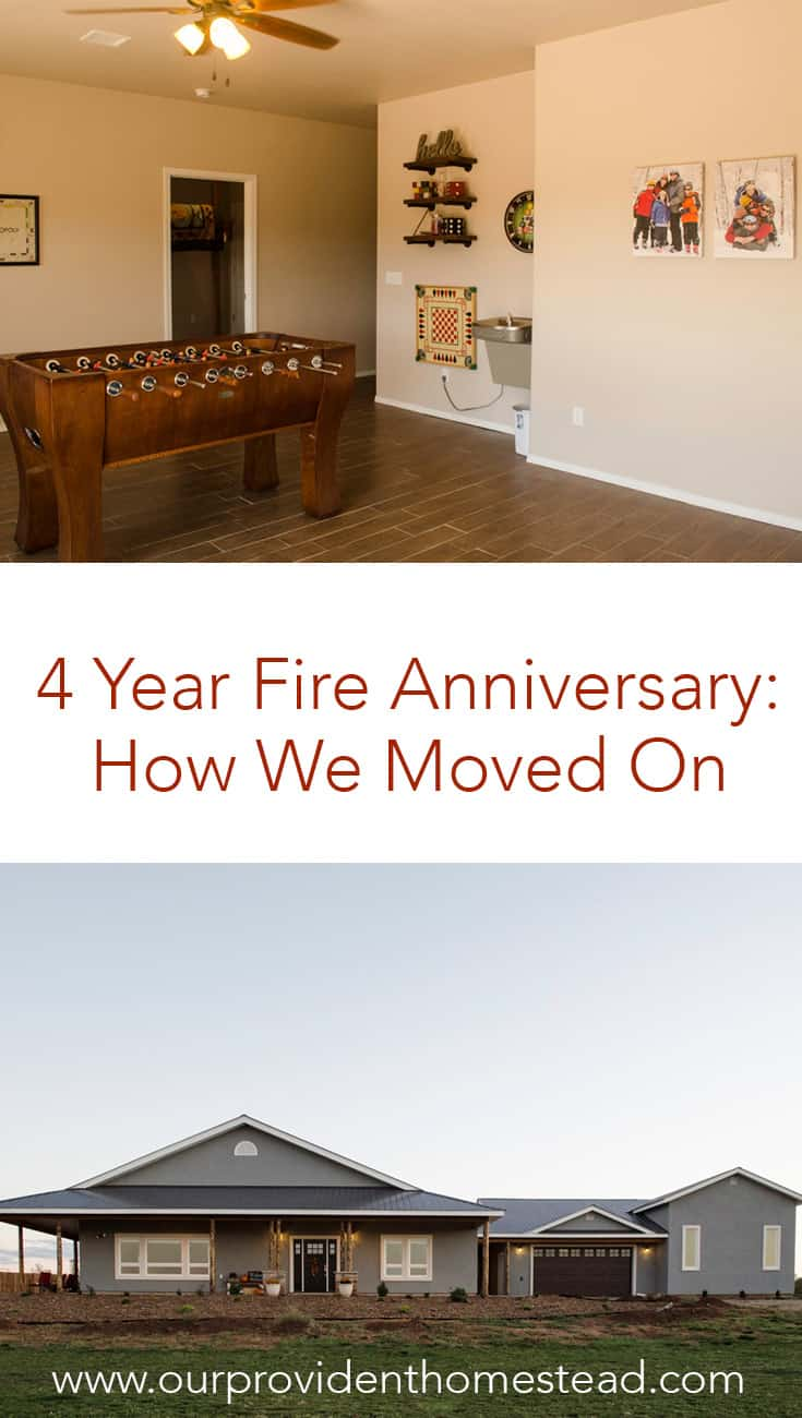 How do you move on from a tragic time in your life? Click here to see how we moved on after our house burned down 4 years ago and how our new house is even better than before.