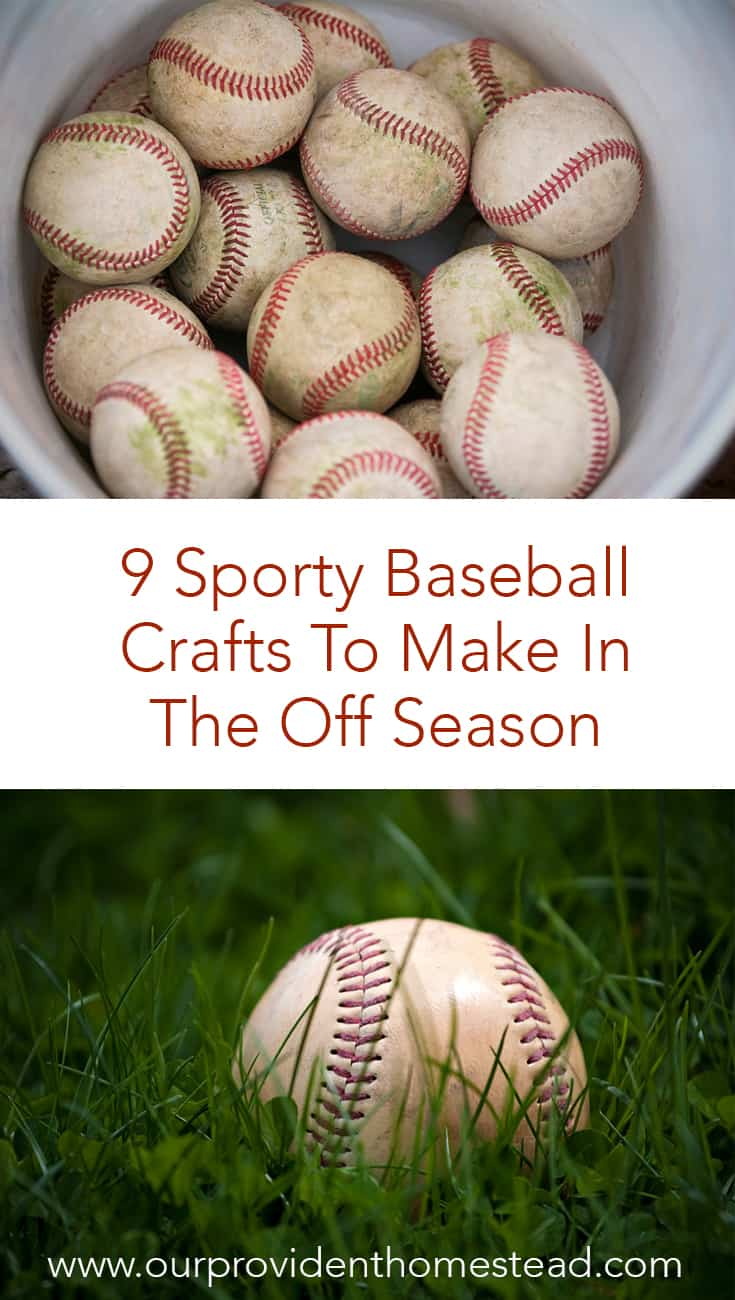 Does your family love baseball? Click here to see 9 sporty baseball crafts to make in the off season for your home or for gift giving. #baseball #baseballcrafts #diycrafts #summer #summercrafts