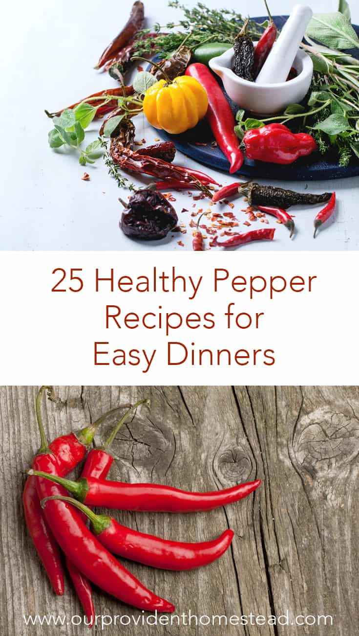 Are you looking for a new recipe for your favorite peppers? Click here to see 25 healthy pepper recipes for easy dinners for your family. #healthyrecipes #recipes #peppers #hotpeppers #pepperrecipes