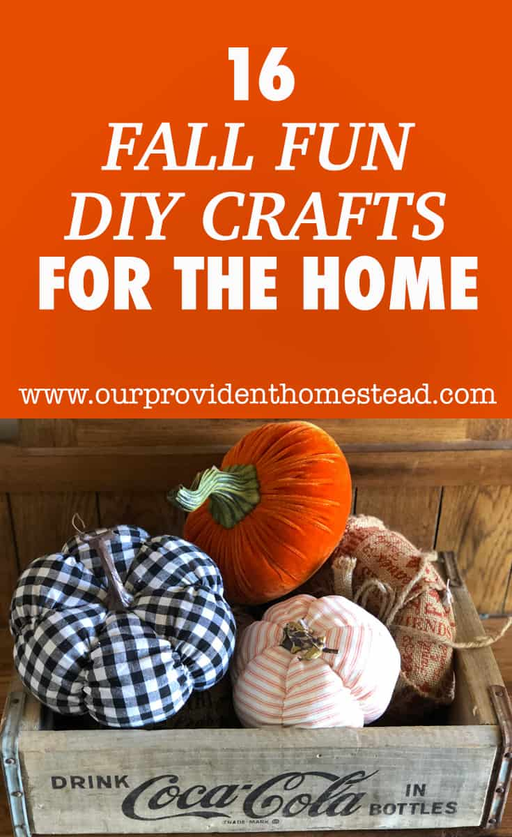 Are you looking for new fall crafts to do with your kids this year? Click here to see 16 fun fall DIY crafts for the home and dress up your fall. #homedecor #falldecor #fallcrafts #fall #DIYcrafts