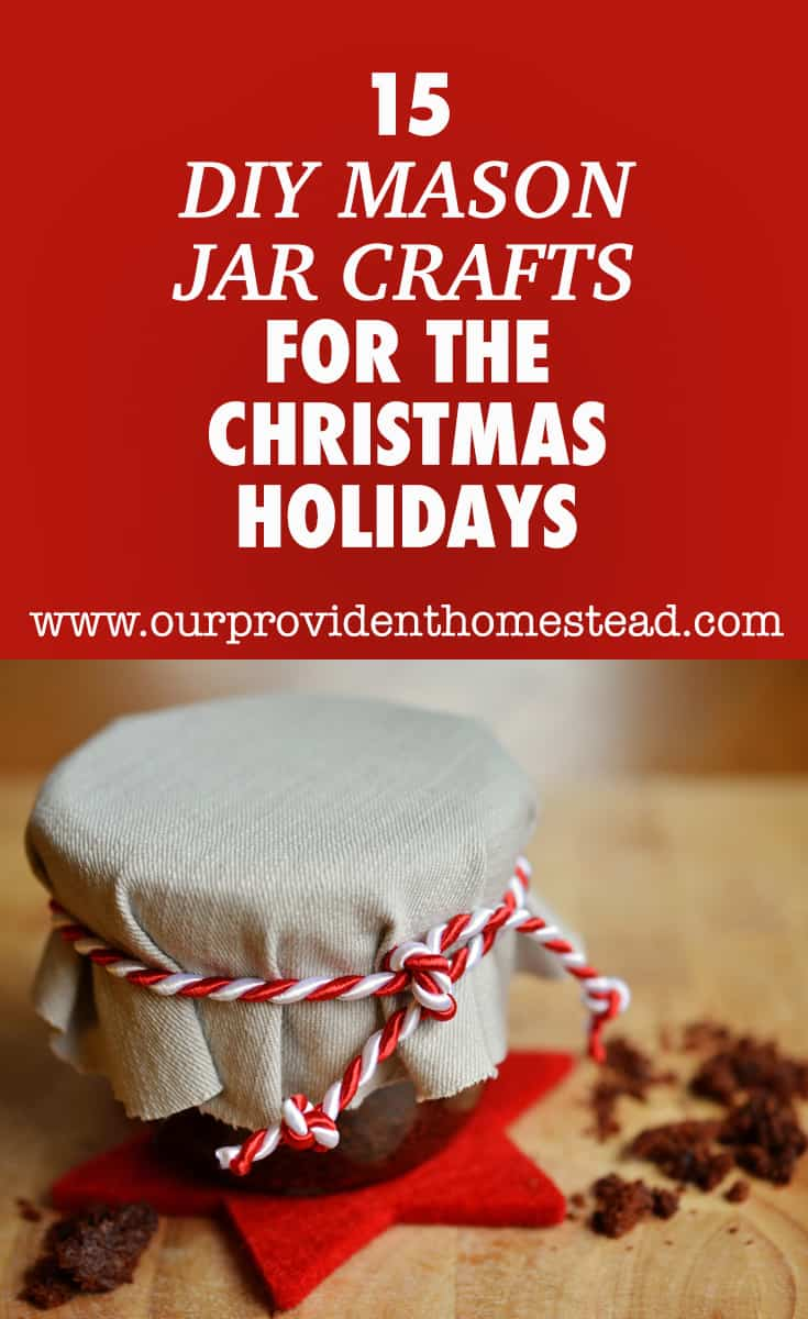Are you looking for fun Christmas crafts for your family this year? Click here to see 15 DIY mason jar crafts for the Christmas holidays. #masonjarcrafts #masonjar #crafts #DIYcrafts #holidaycrafts #Christmascrafts