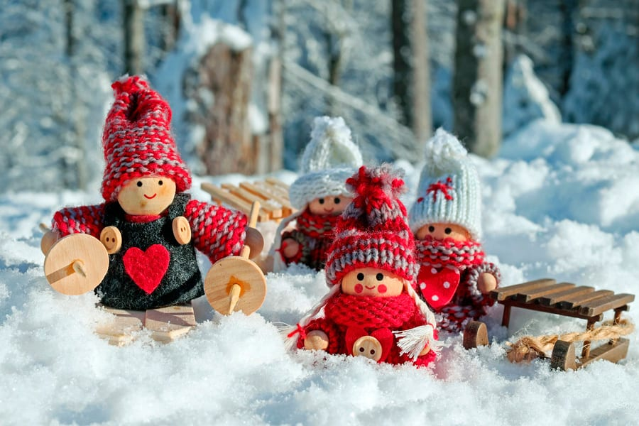 Christmas wooden family