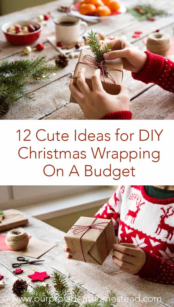 Are you tired of the same old boring Christmas wrapping paper? Click here to see how you can up your wrapping game with these 12 great ideas. #giftideas @wrappingpresents #giftwrapping #Christmas2018 #Christmasgifts #holidays