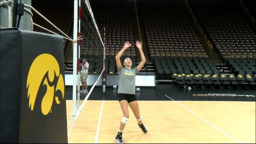 Iowa Volleyball Media Day