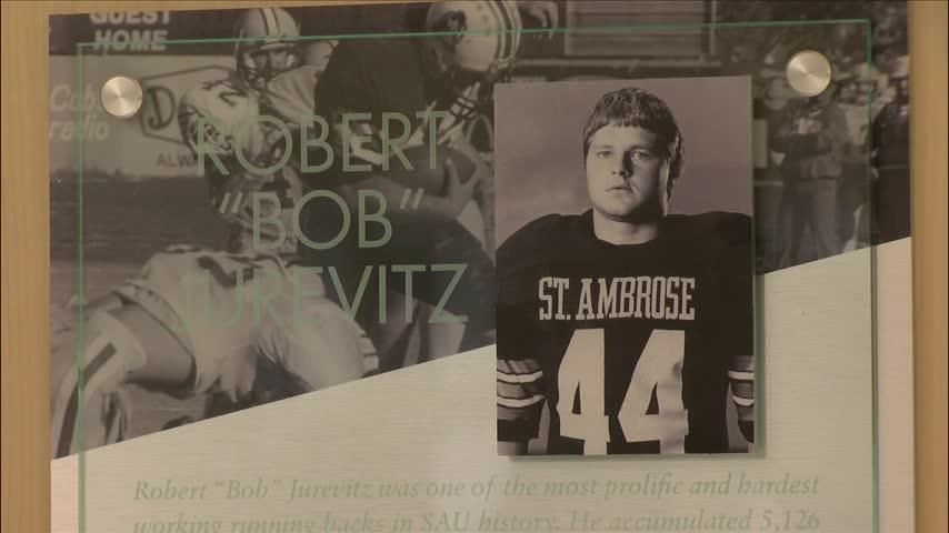 Former SAU Football star Bob Jurevitz honored on campus.