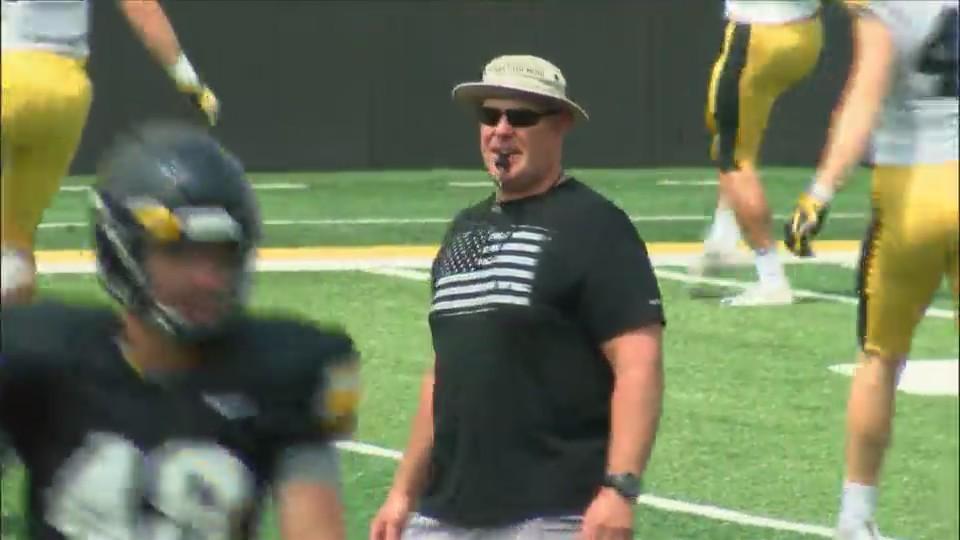Iowa Coach Chris Doyle.